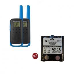 Pack de 2 Motorola T62 Bleu + Batteries de rechange