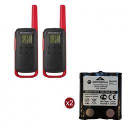 Pack de 2 Motorola T62 Rouge + Batteries de rechange