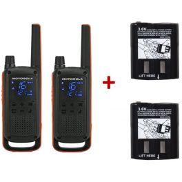 Pack de 2 Motorola Talkabout T82 + Batteries de rechange haute capacité