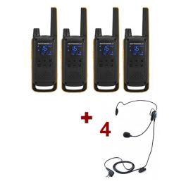 Pack de 4 Motorola Talkabout T82 Extreme + Contour de nuque