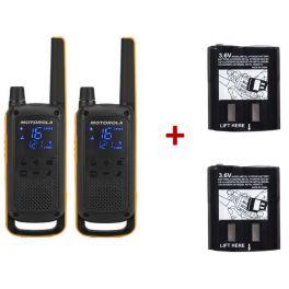 Pack de 2 Motorola Talkabout T82 Extreme + batteries supplémentaires Haute Capacité