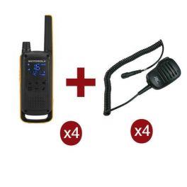 Pack Motorola TLKR T82 Extreme Quad + 4 micros HP