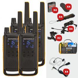 Pack de 4 Motorola T82 Extreme + Kits bodyguard