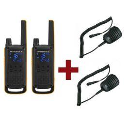 Pack de 2 Motorola Talkabout T82 Extreme + Micros haut-parleurs déportés
