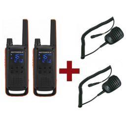 Pack de 2 Motorola Talkabout T82 + Micros haut-parleurs déportés