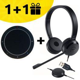 Un speakerphone Cleyver acheté, un casque Dell offert