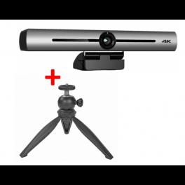 Cleyver - Barre de visioconférence 4K Ultra-HD avec trépied