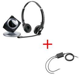 Pack pour Snom: Casque DW 30 Phone + cordon décroché électronique EHS