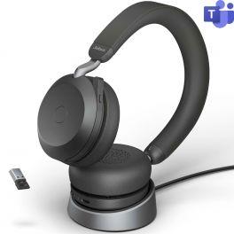 Jabra Evolve2 75 USB-A Microsoft Teams + Socle de charge