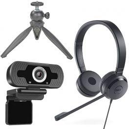 Pack Dell Pro UC150 + Webcam Cleyver + Trépied