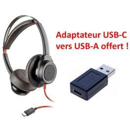 Pack: Plantronics Blackwire 7225 USB-C + USB-C to USB-A Adapter