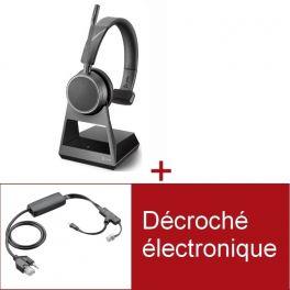 Pack Plantronics Voyager 4210 Office USB-C MS pour téléphone Poly