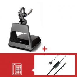 Pack Plantronics Voyager 5200 Office USB-A téléphone Avaya