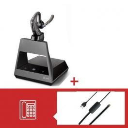 Pack Plantronics Voyager 5200 Office USB-C pour téléphone Avaya