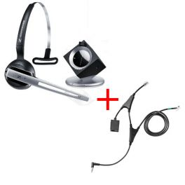 Pack pour Alcatel: Casque DW 10 Phone + cordon décroché électronique EHS