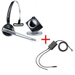 Pack pour Polycom: Casque DW 10 Phone + cordon décroché électronique EHS