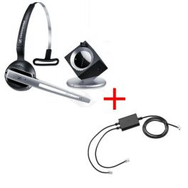 Pack pour Snom: Casque DW 10 Phone + cordon décroché électronique EHS