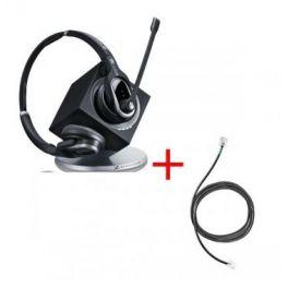 Pack pour Snom : Casque DW Pro 2 Lync + cordon décroché électronique à distance Sennheiser EHS