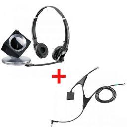 Pack pour Alcatel: Casque DW 30 Phone + cordon décroché électronique EHS