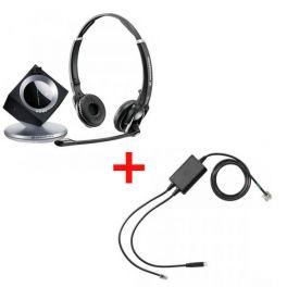 Pack pour Polycom: Casque DW 30 Phone + cordon décroché électronique EHS