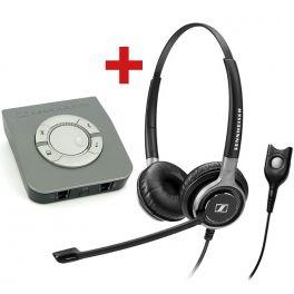 Pack spécial centre d'appels: Sennheiser SC630 + protecteur acoustique UI770