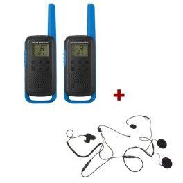 Pack de 2 Motorola T62 Bleu + Micro casque