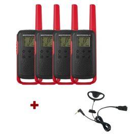 Pack de 4 Motorola T62 Rouge + Contour d'oreilles
