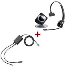 Pack pour Polycom: Casque DW 20 Phone + cordon décroché électronique EHS