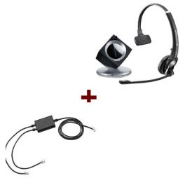 Pack pour Snom: Casque DW 20 Phone + cordon décroché électronique EHS