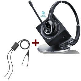 Pack pour Cisco : Casque DW Pro 2 Lync + cordon décroché électronique à distance Sennheiser EHS