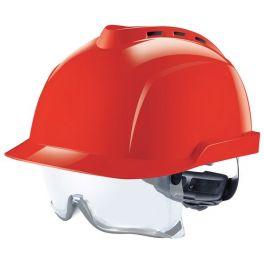 MSA V-Gard 930 Ventilé avec lunettes intégrées - Rouge