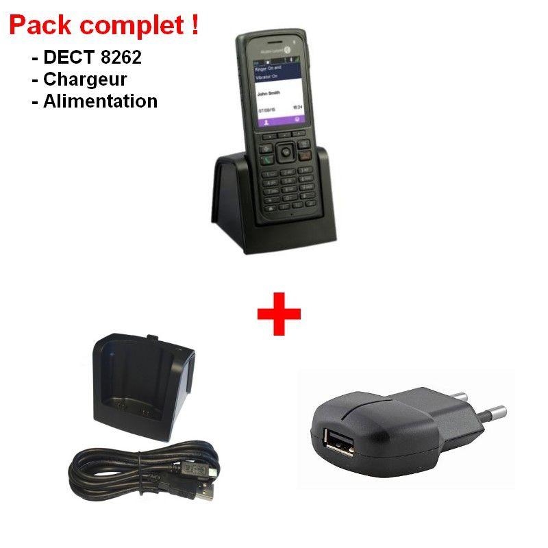 Pack complet Alcatel-Lucent 8262 avec chargeur et alimentation