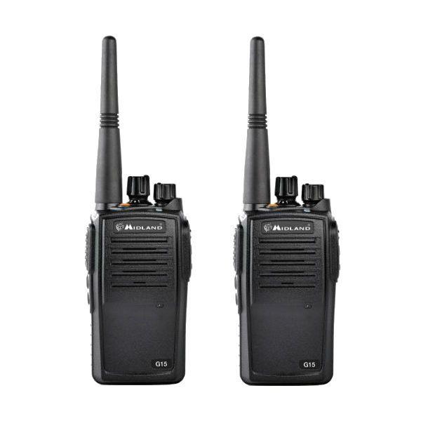 Pack Duo : 2 talkies Midland G15