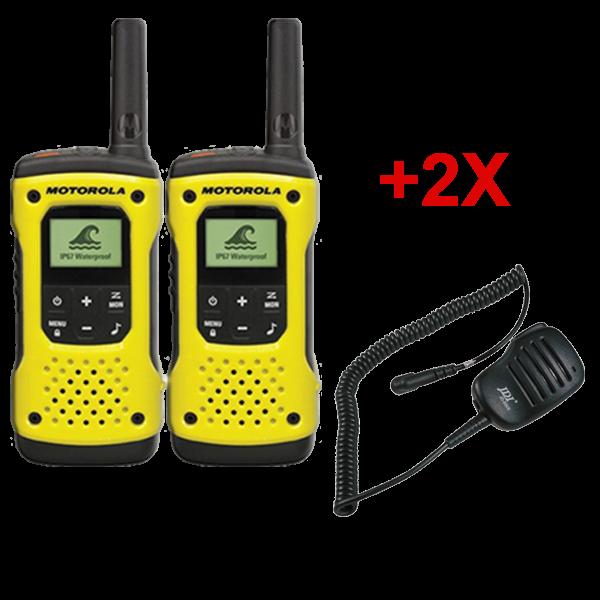 Pack de 2 Motorola T92 + Micros haut-parleurs déportés