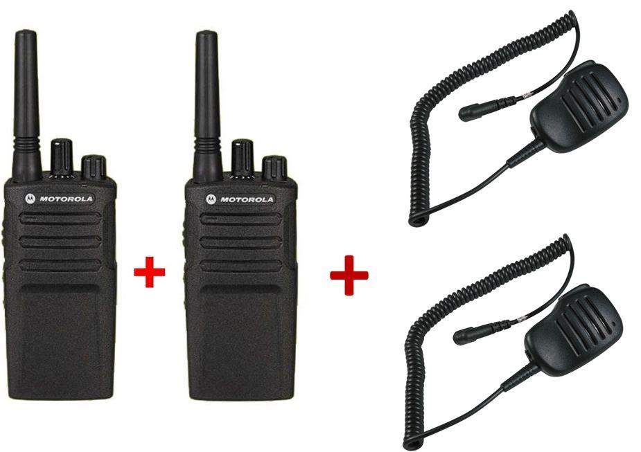 Pack de 2 Motorola XT420 + 2 Micros haut-parleurs déportés