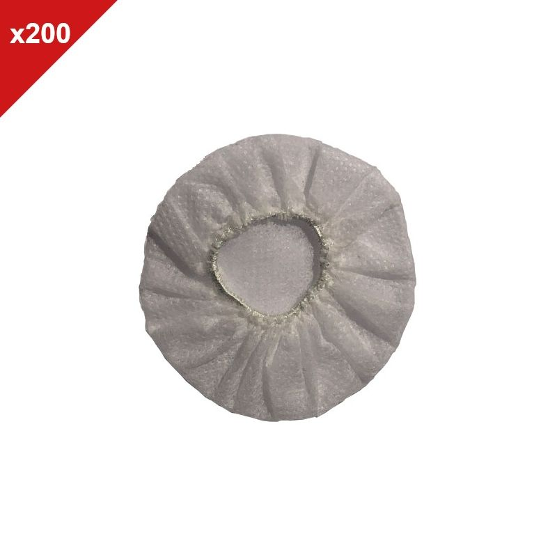 Onedirect - Charlottes hygiéniques blanches - 200 unités