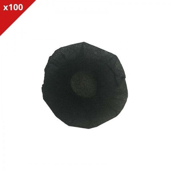 Onedirect - Charlottes hygiéniques noires - 100 Unités