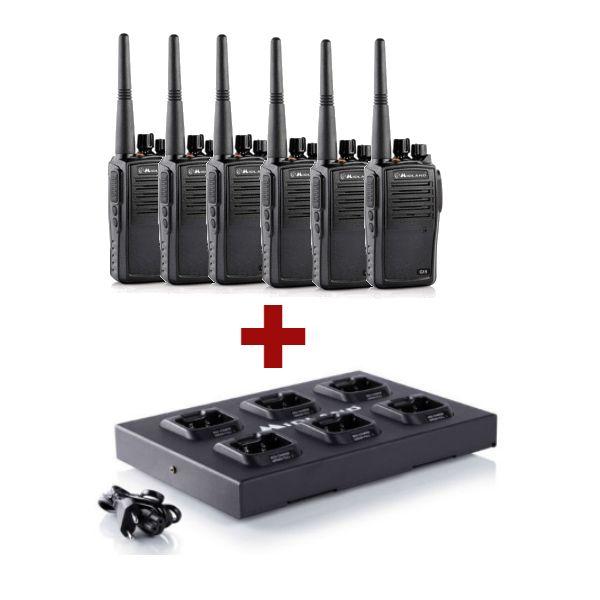 Pack de 6  Talkie walkie Midland G15 + chargeur multiple