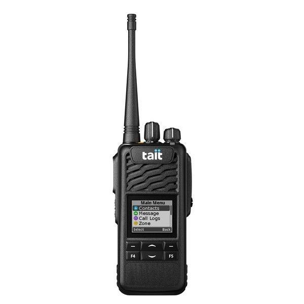 TAIT TP3350 UHF avec écran et clavier 4 touches + Microphone-HP déporté sur épaule