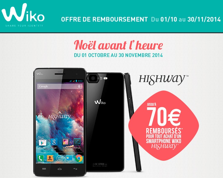 wiko highway t l phone portable pro wiko achat. Black Bedroom Furniture Sets. Home Design Ideas