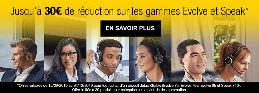 Cashback Jabra Evolve et Speak