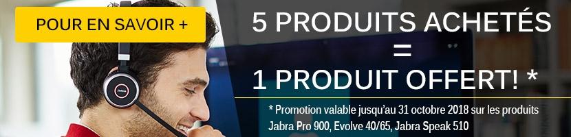 Offre Jabra 5+1 gratuit