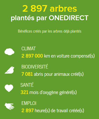 Projet Reforestaction Onedirect
