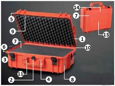 Partes de la maleta MAX300S