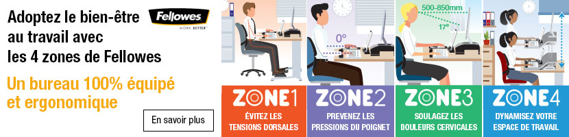 Fellowes zones ergonomiques