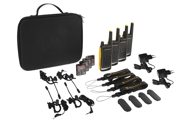 Composition du pack Motorola T82 Extreme Quad Pack