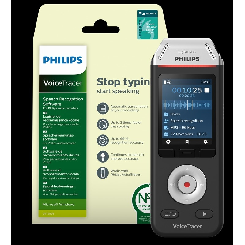philips DVT 2810 Voice Tracer - Onedirect